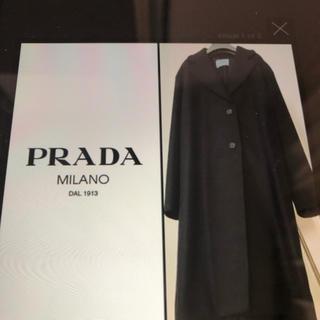 プラダ(PRADA)のプラダ ウールロングコート 新品 未使用(ロングコート)