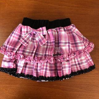 ベビードール(BABYDOLL)の美品 ベビードール フリル チェック スカート サイズ100(スカート)
