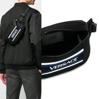 ヴェルサーチ(VERSACE)の【新品未使用】Versace ヴェルサーチ ロゴベルトバッグ 正規品 イタリア製(ボディーバッグ)