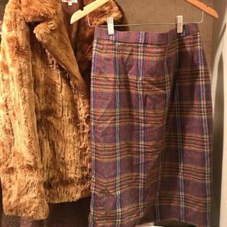 ロキエ(Lochie)のpurple skirt 🍆(ひざ丈スカート)