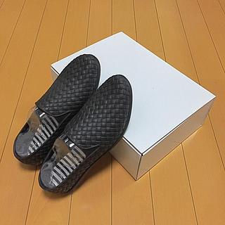 FELISSIMO - 足にフィット 編み込み風 完全防水レインスリッポン
