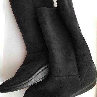 アルコペディコ(ARCOPEDICO)のアルコペディコ ブーツ ブラック 黒 サイズ38 おまけ消臭スプレー付き(ブーツ)