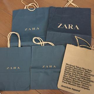 ザラ(ZARA)のZARA アメリカンアパレル ショッパー(ショップ袋)