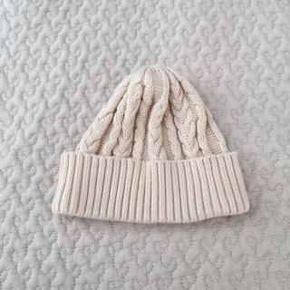 SENSE OF PLACE ニット帽 オフホワイト キッズ 春ニット帽