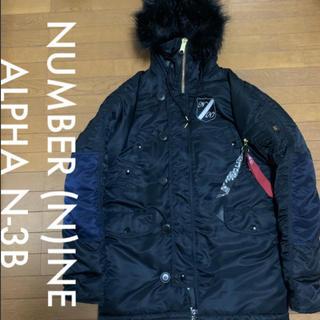 ナンバーナイン(NUMBER (N)INE)のNUMBER (N)INE ALPHA N-3B ジャケット ブラック サイズL(ミリタリージャケット)