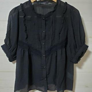 ダブルクローゼット(w closet)のw closet フリルブラウス(シャツ/ブラウス(半袖/袖なし))