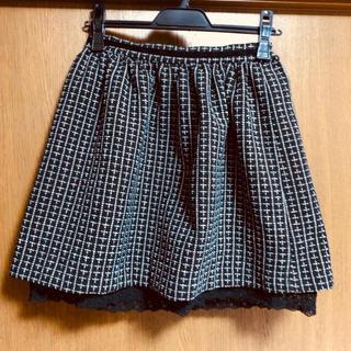 ロディスポット(LODISPOTTO)の♡レディースチェック柄ミニスカート♡黒×白♡ロディスポット♡  (ミニスカート)