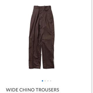 ヤエカ(YAECA)のLENO wide chino trousers(カジュアルパンツ)