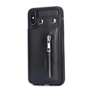 ジャーナルスタンダード(JOURNAL STANDARD)のカード収納iPhoneケース ライダース   レザー調 leather ボタン(iPhoneケース)