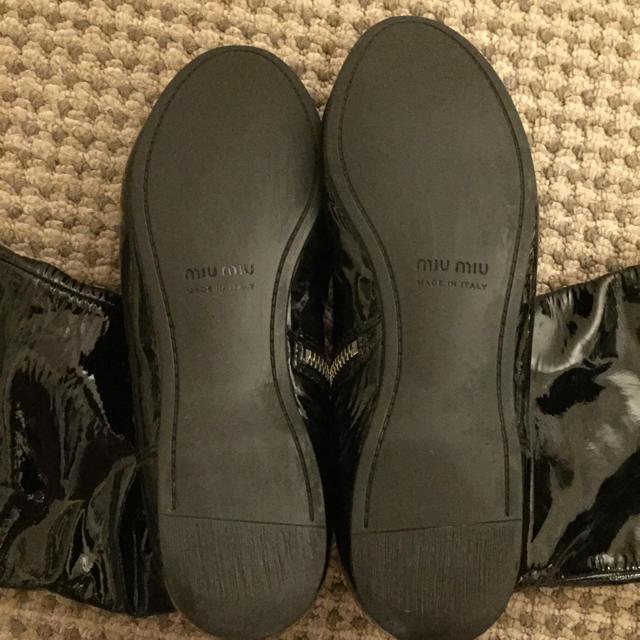 miumiu(ミュウミュウ)のmiumiu エナメルブーツ レディースの靴/シューズ(ブーツ)の商品写真