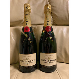 モエエシャンドン(MOËT & CHANDON)のモ・エ・シャンモエドン(Moët & Chandon)送料込み 二本セット(シャンパン/スパークリングワイン)