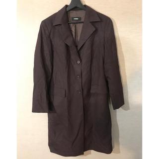 コムデギャルソン(COMME des GARCONS)のストライプ チェスターコート ブラウン 袖デザイン(チェスターコート)
