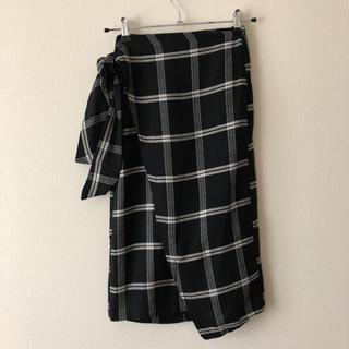 ベルシュカ(Bershka)のベルシュカ 未使用 チェック柄 ラップスカート (ひざ丈スカート)