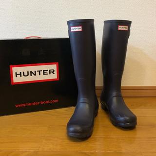 ハンター(HUNTER)のHUNTER ハンター レインブーツ UK5 24センチ 24.5センチ 紫色(レインブーツ/長靴)