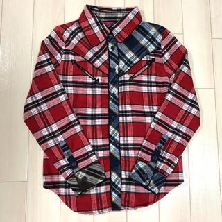 アニタアレンバーグ(ANITA ARENBERG)のチェックシャツ ネルシャツ (レッド)(シャツ/ブラウス(長袖/七分))