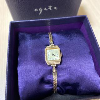 アガット(agete)の【agate】スクエアフェイスジュエリーウォッチ 現行品(腕時計)