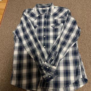 GU - GUメンズチェックシャツ   XLサイズ