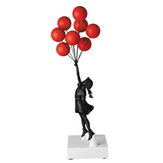 Flying Balloons Girl Red Balloons Black(彫刻/オブジェ)