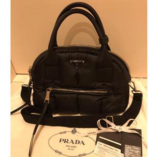 プラダ(PRADA)の《最終値下げ》美品 PRADA ボンバー ナイロンBag ショルダー付(ハンドバッグ)