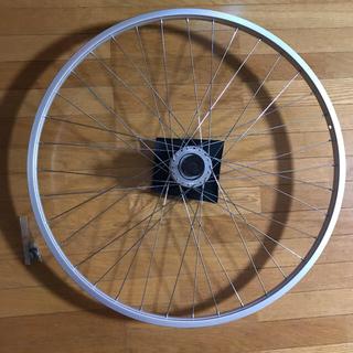 シマノ(SHIMANO)の通学用自転車 タイヤホイール前輪 27インチ シマノ 新品(タイヤ・ホイールセット)