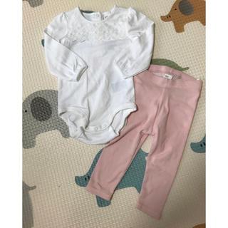 H&M - *新品・未使用*長袖ボディスーツ&リブレギンス 75cm