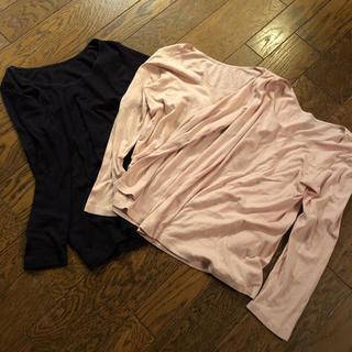 グンゼ(GUNZE)のGUNZE 長袖 ヒートテック パープル ピンク 3枚セット(アンダーシャツ/防寒インナー)