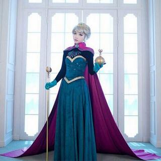 アナトユキノジョオウ(アナと雪の女王)のアナと雪の女王 エルサ 戴冠式 コスプレ(衣装)