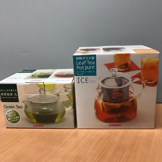 ハリオ(HARIO)の茶茶急須 丸 +  リーフティーポットピュア(食器)