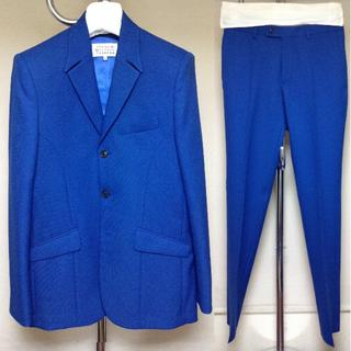 マルタンマルジェラ(Maison Martin Margiela)の新品■46■18aw マルジェラ■セットアップ■ブルー■青■7723(テーラードジャケット)