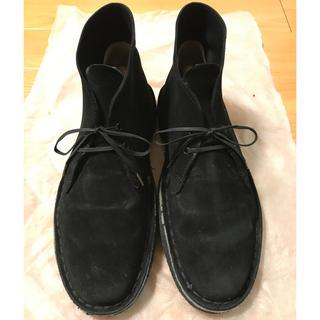 クラークス(Clarks)のクラークス デザートブーツ ブラック 25.5cm スウェード チャッカ(ブーツ)