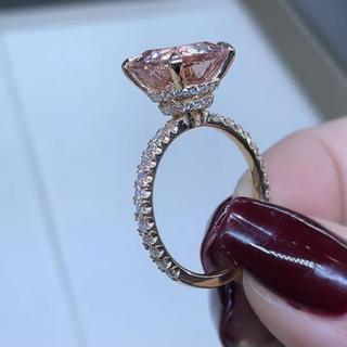 AAAランク ダイヤモンドcz 13号 リング 指輪 ピンクゴールド(リング(指輪))