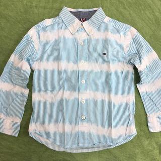トミーヒルフィガー(TOMMY HILFIGER)のトミーヒルフィガー 水色のシャツ(ブラウス)