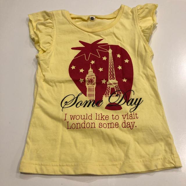 西松屋(ニシマツヤ)の100 半袖 Tシャツ タンクトップ キッズ/ベビー/マタニティのキッズ服女の子用(90cm~)(Tシャツ/カットソー)の商品写真