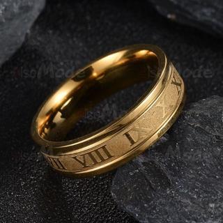 ローマ数字リング メンズリング 指輪メンズ ゴールド 18号(リング(指輪))