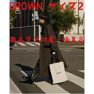 サンシー(SUNSEA)のSUNSEA 18AW POLYYS WOOL COAT【ブラウン色・サイズ2】(チェスターコート)