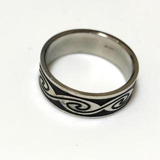 同時購入で300円 ステンレス指輪 黒シルバー(リング(指輪))
