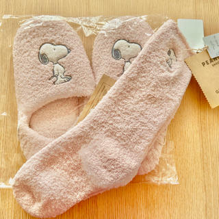 gelato pique - ジェラートピケ スヌーピー 靴下とスリッパのセット