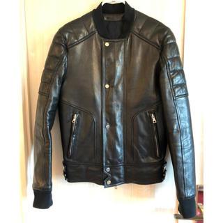 バルマン(BALMAIN)の【バルマン】ラムレザー ライダースジャケット ブラック size 48 ※美品※(ライダースジャケット)