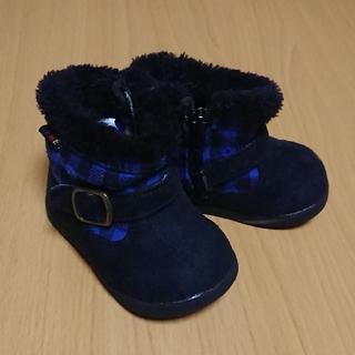 ブーツ 美品 IFME  12.0㎝ ブルー ブラック(ブーツ)