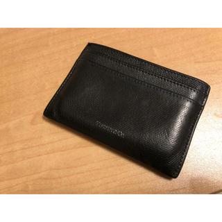 ティファニー(Tiffany & Co.)のTIFFANYカードケース ティファニー メンズ ブラック 黒(名刺入れ/定期入れ)