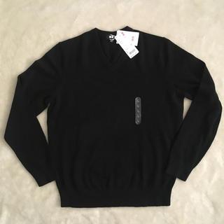 UNIQLO - ユニクロ カシミア 100% L  Vネックセーター