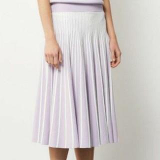 エポカ(EPOCA)の新品 EPOCA エポカ ラマリア ニット スカート 紫 モダンスカート(ひざ丈スカート)