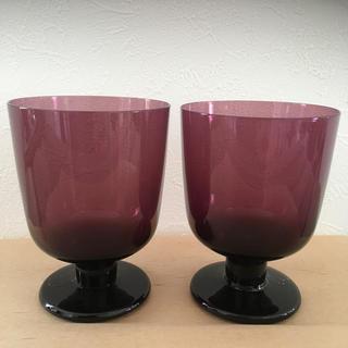 イッタラ(iittala)のレンピ ダークライラック2個(グラス/カップ)