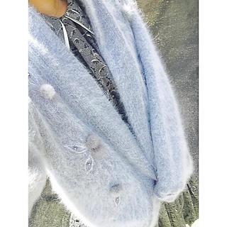 グリモワール(Grimoire)の古着 ふわふわ ポンポン付き カーディガン(カーディガン)
