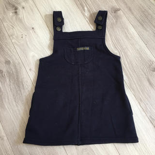 futafuta - 95cm ワンピース ジャンパースカート 紺色 バースデー