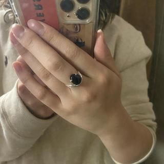 トゥデイフル(TODAYFUL)のsilver925 ストーンリング(リング(指輪))