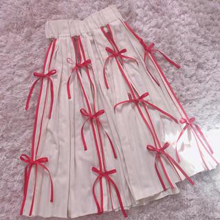サンタモニカ(Santa Monica)の本日限定 レア ribbon skirt(ロングスカート)