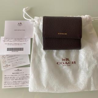 COACH - COACH 三つ折り財布 新品