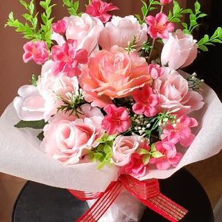 フラワーアレンジ♪桃とピンクの薔薇(その他)