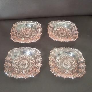 東洋佐々木ガラス - 東洋ガラス ローズピンク食器4枚セット